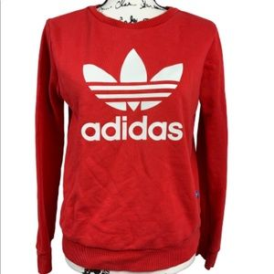 Adidas Women's Sweatshirt Red Adidas Shirt